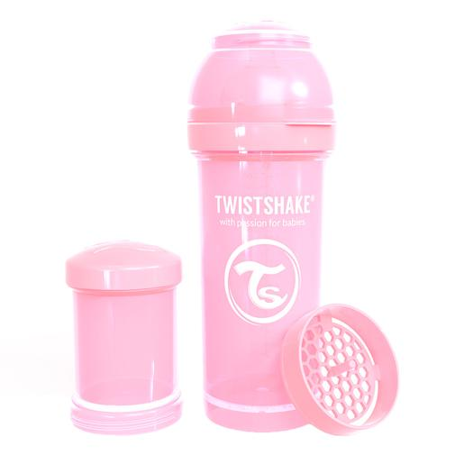 Twistshake - Biberón 260 ml - Rosa