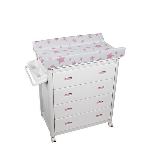 foto Plastimyr - Bañera Cajones Blancos MOB Estrellas Rosas