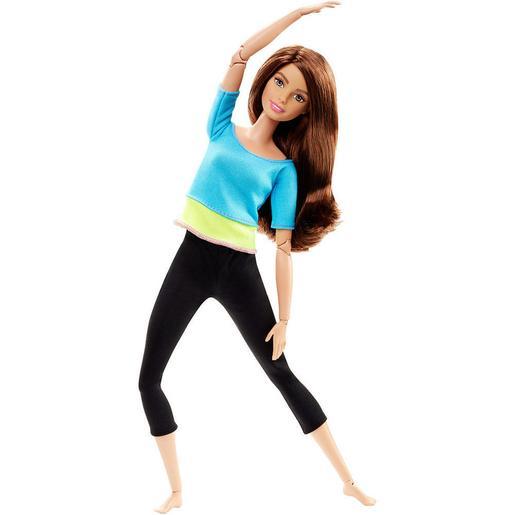 Barbie - Muñeca Movimientos Sin Límites - Top Azul y Verde