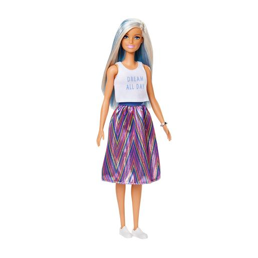 Barbie - Muñeca Fashionista - Falda Estampada
