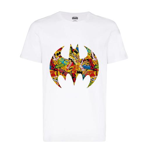 Batman - Camiseta Logo Multicolor Talla L