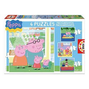 Educa Borras – Peppa Pig Familia – Puzzle Progresivo