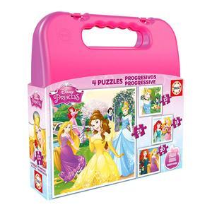 Educa Borrás – Princesas Disney – Maleta Puzzles Progresivos