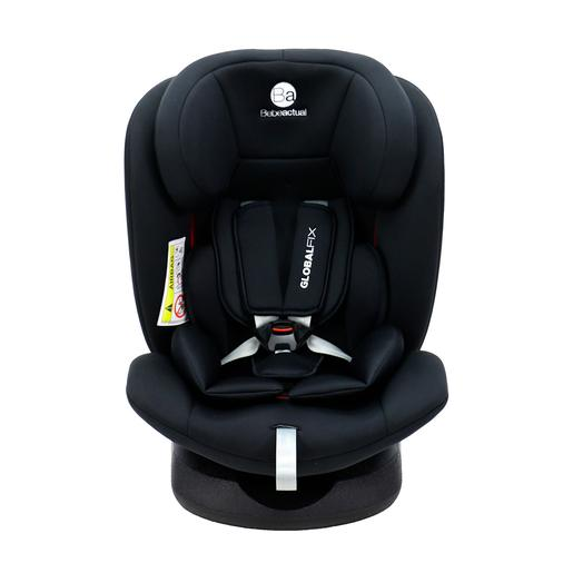 Asalvo - Silla de Coche Global Fix Negra Grupo 0+ -1-2-3 (Hasta 36 kg)