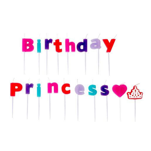 Pack 18 Velas Birthday Princess
