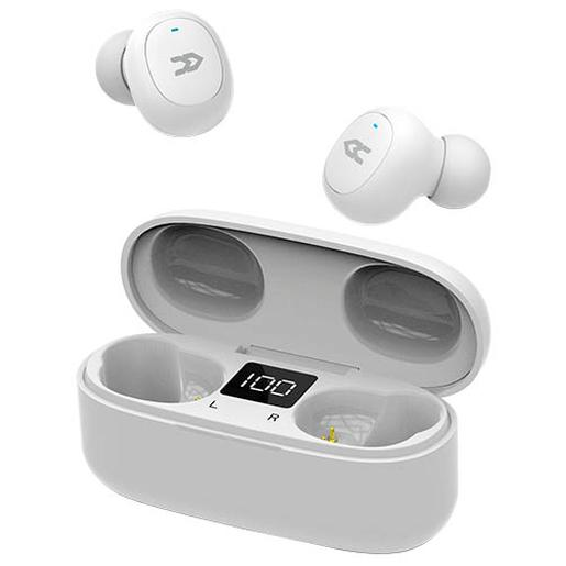 Auriculares Bluetooth con base de carga Blanco