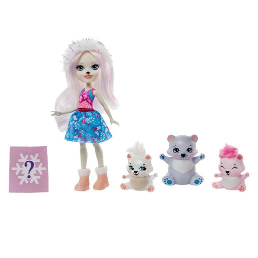 Enchantimals - Muñeca Pristina Polar Bear con Mascotas