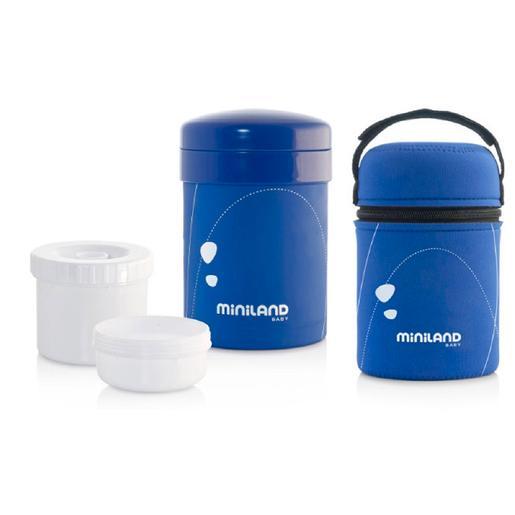 Miniland - Termo Sólidos con Herméticos Azul