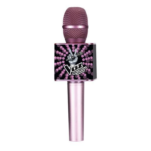 Micrófono Oficial La Voz Rosa y Negro
