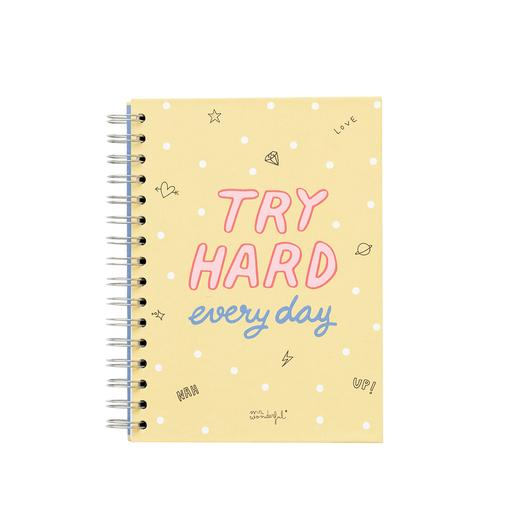 Mr. Wonderful - Try Hard Every Day - Libreta Pequeña