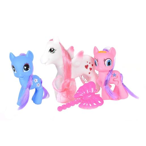 Kids World - Set de 3 Ponis