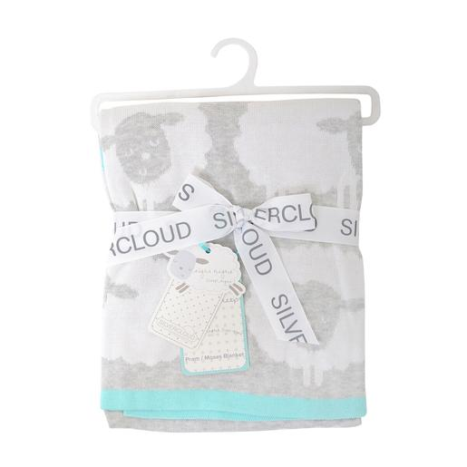 Manta Counting Sheep Gris y Blanco