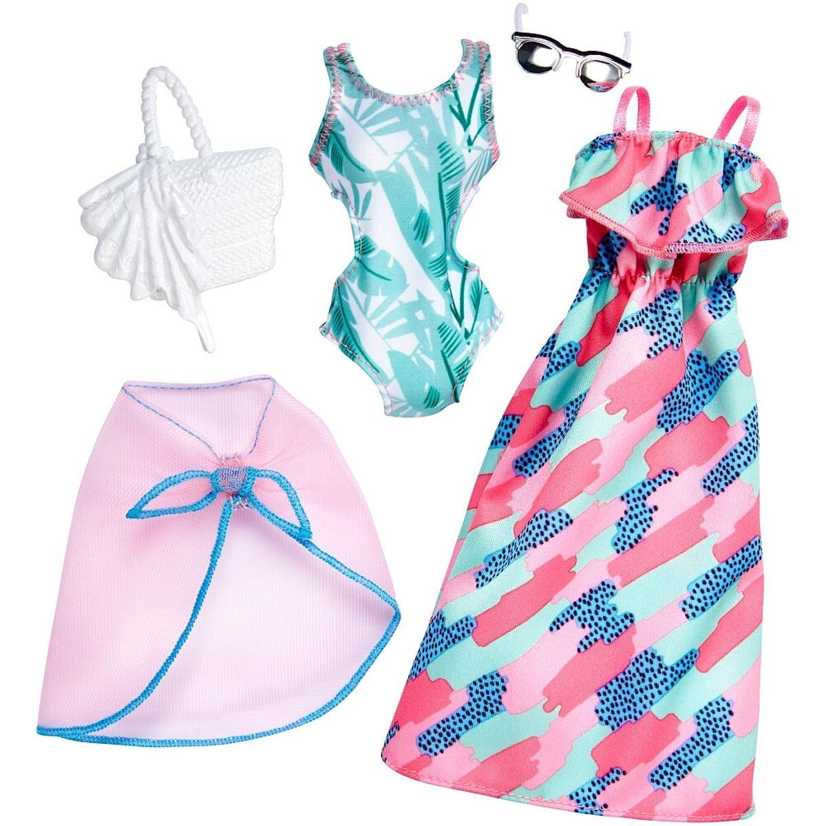 1397ea51dc87 Barbie - Bañador Verde y Vestido Verde y Rosa - Pack 2 Modas