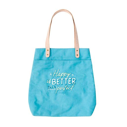 Mr. Wonderful - Happy Is Better Than Perfect - Tote Bag