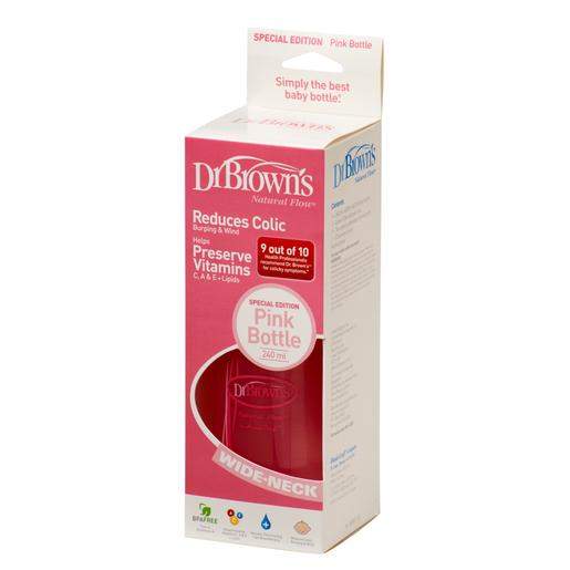 Dr. Brown´s - Biberón Options Dr. Brown's Boca Ancha Rosa 270ml