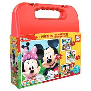 Educa Borrás – Mickey Mouse – Maleta Puzzles Progresivos