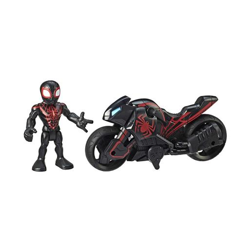 Marvel - Kid Arachnid y Moto Arácnida Super Hero Adventures