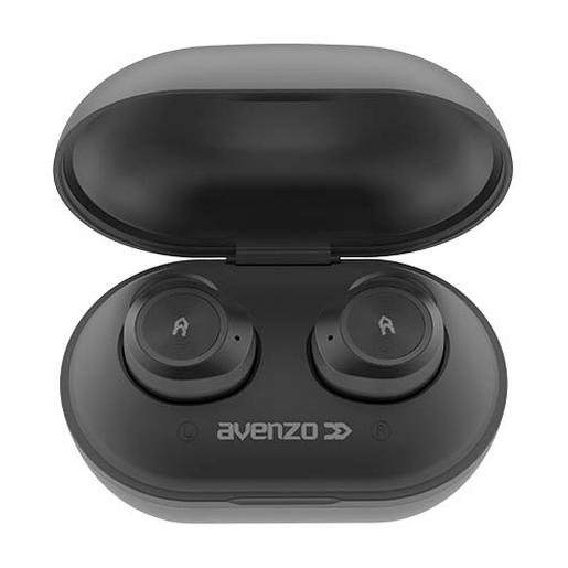 Auriculares true wireless Bluetooth 4.2 con power bank negro