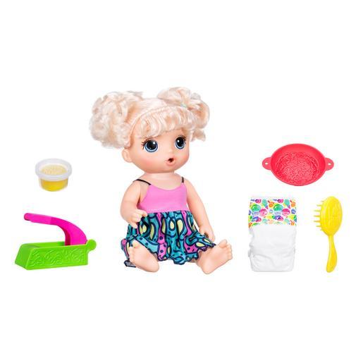 Baby Alive - Muñeca Rubia - Deliciosos Espaguetis