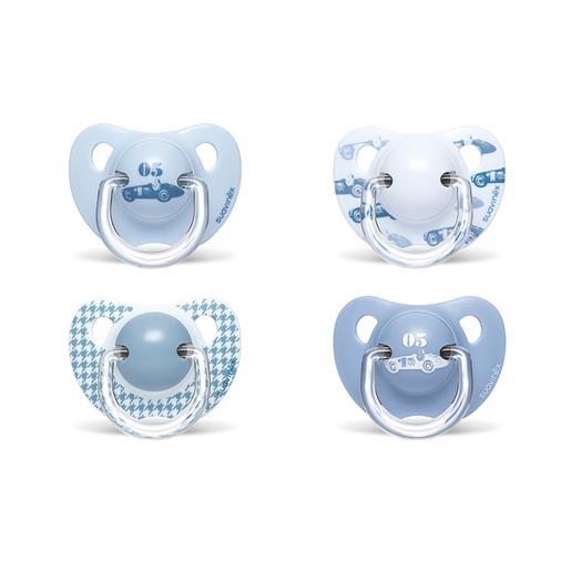 Suavinex - Pack 2 Chupetes Azul Tetina Anatómica +6 meses (varios modelos)