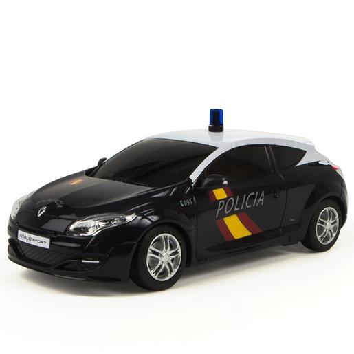Coche Renault Megane Verde Policía Nacional