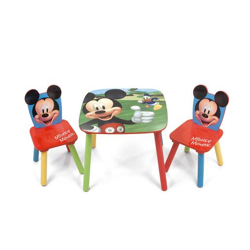 Mickey Mouse - Set de Mesa y Sillas