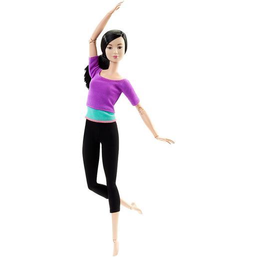 Barbie - Muñeca Movimientos Sin Límites - Top Morado y Turquesa