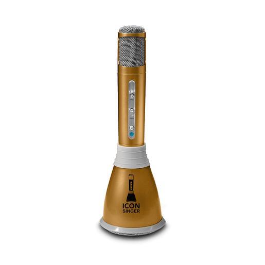 Micro Karaoke Bluetooth Icon Singer Dorado
