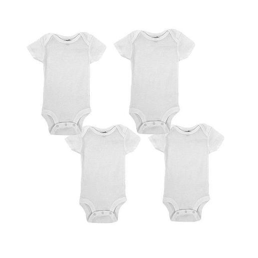 Babies R Us - Pack 4 Bodies Mangas Cortas Blanco 0-24 meses