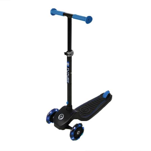 Patinete Future Scooter luces LED Azul