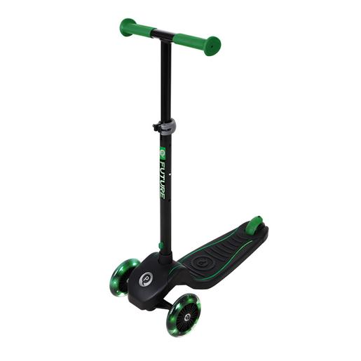 Patinete Future Scooter luces LED Verde