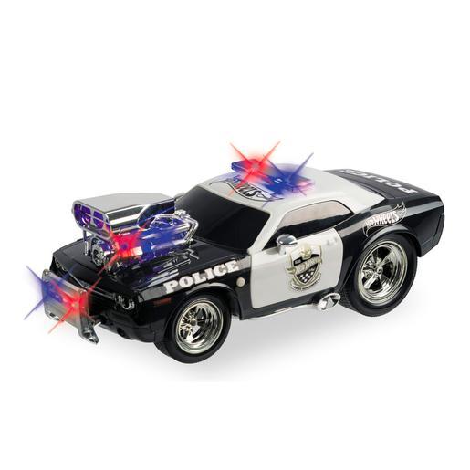 Hot Wheels - Coche de Policía Radio Control con Luces y Sonidos