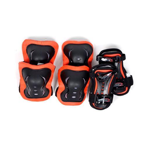Set de Protecciones Skate Negro y Rojo