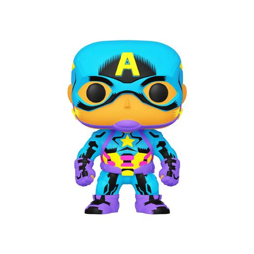 Marvel - Capitan América - Figura Funko POP Black Light