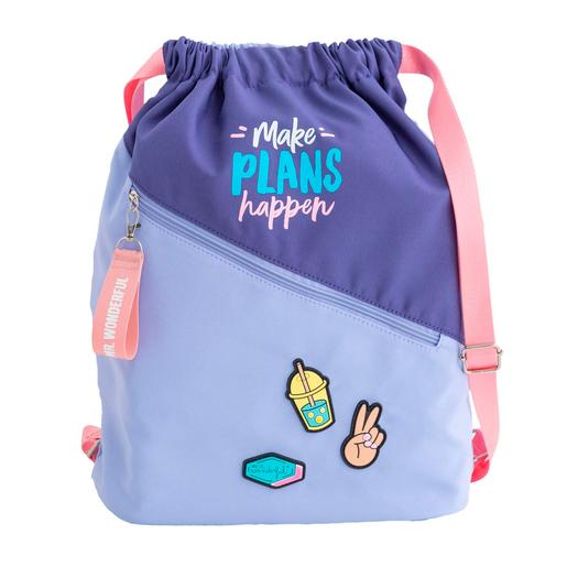 Mr. Wonderful - Make Plans Happen - Mochila de Saco Violeta