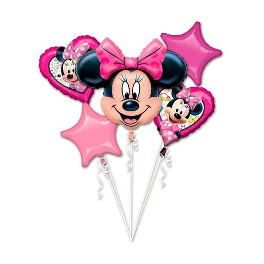 Minnie Mouse - Pack 5 Globos Bouquet