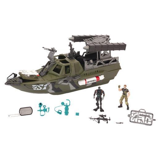 True Heroes - Mega Set Barco Naval Militar
