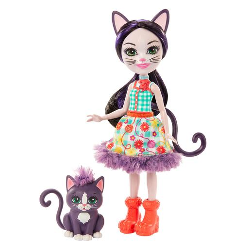 Enchantimals - Ciesta Cat y Climber - Muñeca y Mascota