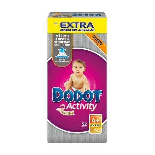 Dodot - Pañales Activity Extra T4 (10-15kg) 52 Unidades