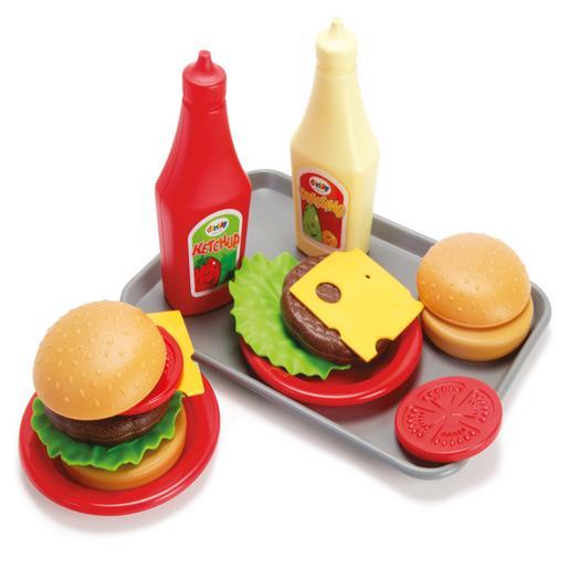 Set hamburguesa en bandeja
