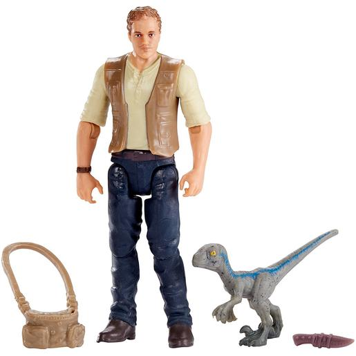 Jurassic World - Owen y Baby Blue - Figura Básica