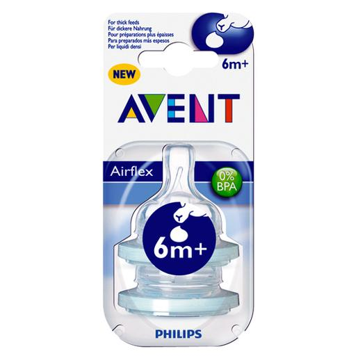 Philips Avent - Pack 2 Tetinas Cereales - SCF636/27