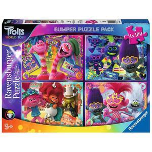 Ravensburger – Trolls – Pack Puzzles 4×100 piezas Trolls 2