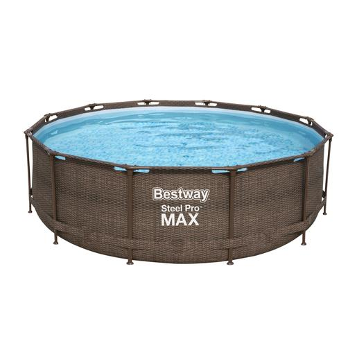 Bestway - Piscina Power Steel Deluxe Ratán 366 x 100 cm