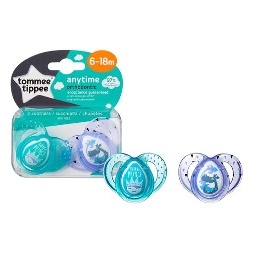 Tommee Tippee - Pack 2 Chupetes Anytime 6-18 meses (varios modelos)