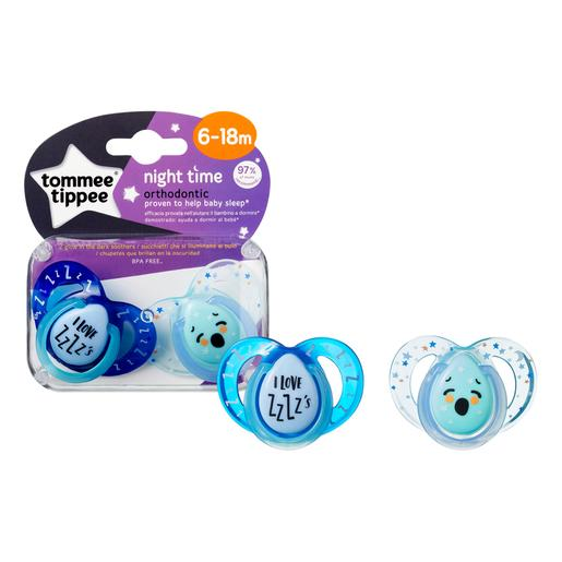 Tommee Tippee - Pack 2 Chupetes Night Time 6-18 meses (varios modelos)