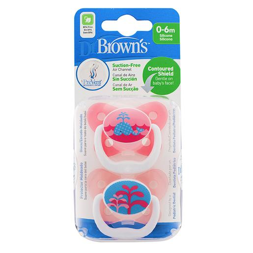 Dr. Brown's - Chupete Prevent Mariposa T1 (varios colores)
