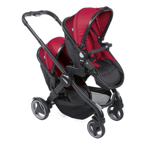 Chicco - Dúo gemelar de paseo Fully Twin Red Passion