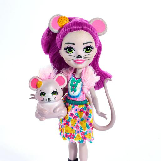 Enchantimals - Mayla Mouse y Fondue - Muñeca y Mascota