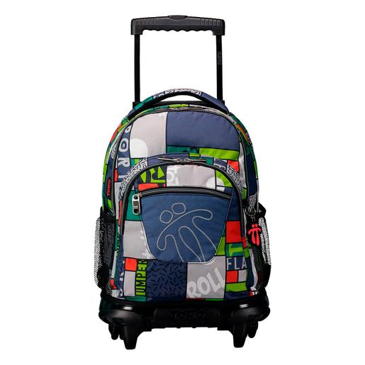 Totto - Trolley Renglon Azul y Gris